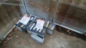 不法投棄バッテリー回収事例